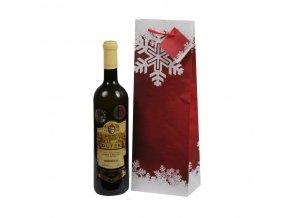 Papírová taška na 1 láhev, vánoční T0023