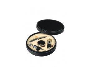 Dárkový box kulatý – 4 pomůcky, um. kůže Z0065