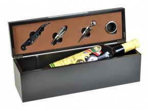 Box na 1 víno černý - 4 pomůcky Z0079