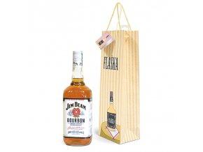 Papírová taška na 1 láhev, kreslená T0047