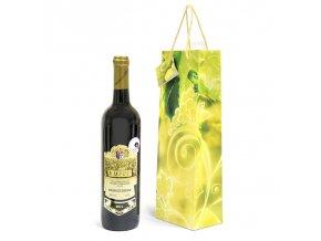 Papírová taška na 1 láhev T0051