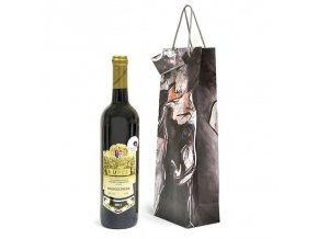 Papírová taška na 1 láhev T0052