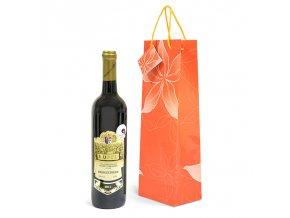 Papírová taška na 1 láhev T0053