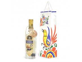 Papírová taška na 1 láhev T0054