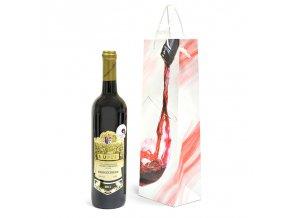 Papírová taška na 1 láhev T0055