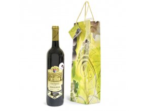 Papírová taška na 1 láhev T0056