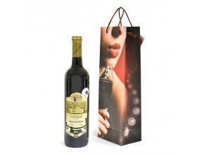 Papírová taška na 1 láhev T0058