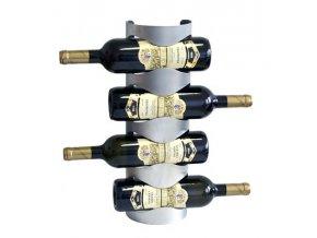 Nerezový stojan na 4 vína, nástěnný P0004