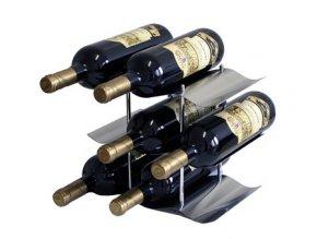 Nerezový stojan na 9 vín P0006