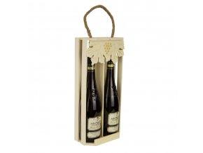 Nosič na 2 láhve vína - C0024