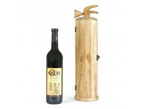 Box na 1 láhev, hasičák - dřevěný R0014