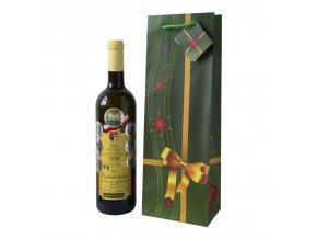 Papírová taška na 1 láhev, vánoční T0079