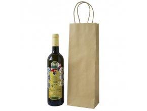 Papírová taška na 1 láhev T0082 přírodní 10 ks