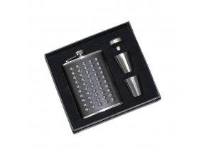Pleskačka s přísl., černá s kovovými puntíky Z0098