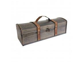 Dřevěná krabička na 1 víno F0026