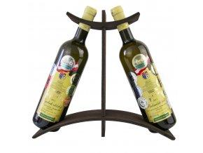 Stojan na 2 láhve - dřevěný R0016