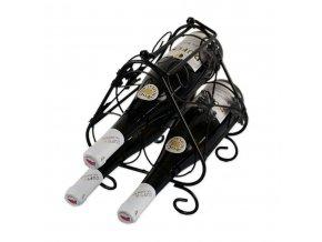 Kovový stojan na 3 vína, černý X0005