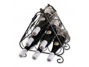 Kovový stojan na 6 vín, X0008
