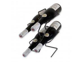 Kovový stojan na 4 vína, černý X0009