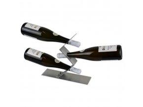 Nerezový stojan na 3 vína X0013