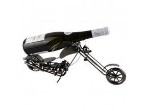 Kovový stojan na víno, motorka X0015