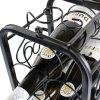 Kovový stojan na 7 vín, černý X0001