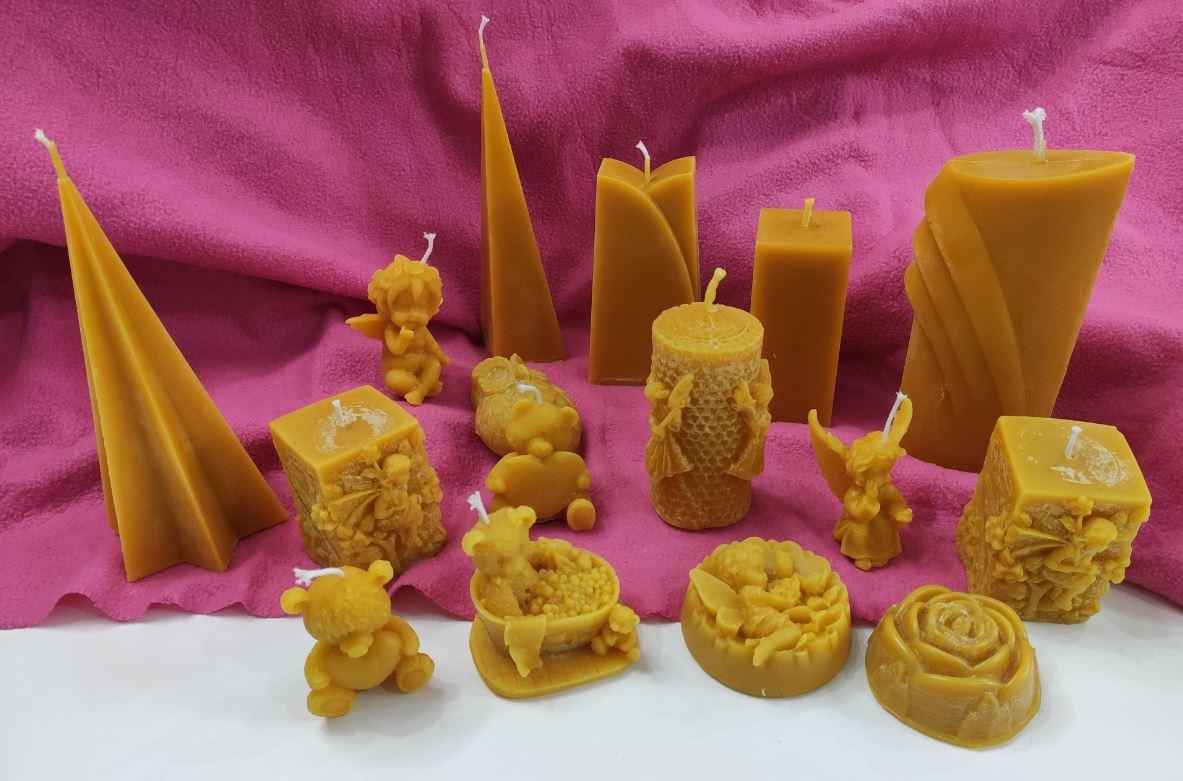 Domácí výroba svíček ze včelího vosku