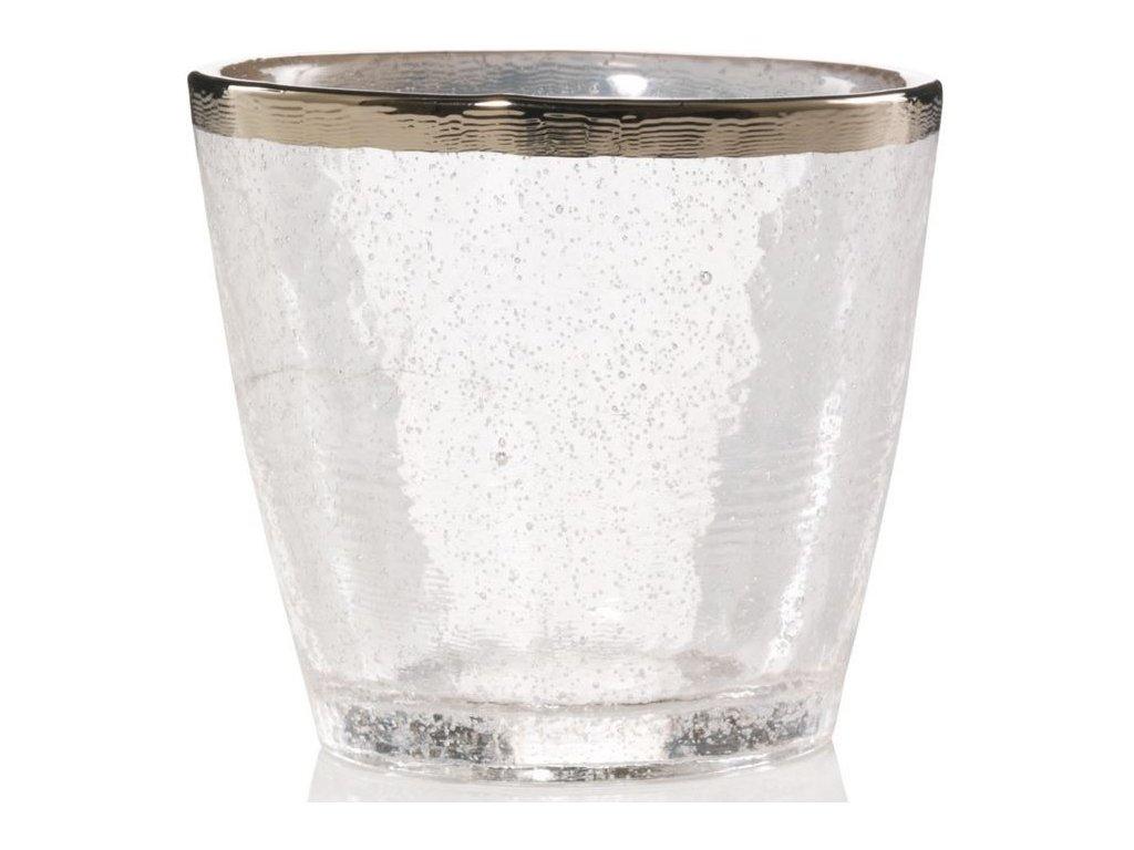 sklo votiv Metalic Band on Glass