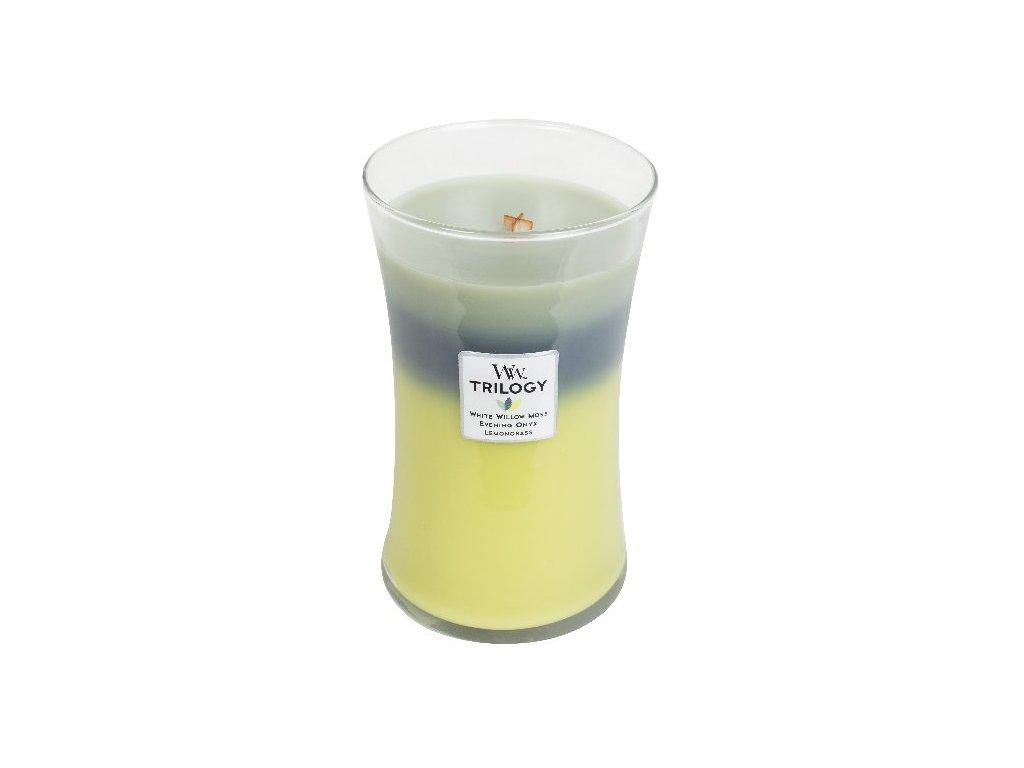 32060 WW velká TRILOGY White willow moss Evening onyx Lemongrass