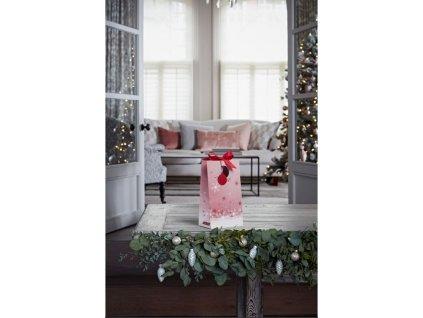 Krabička 2ks střední sklo vánoční