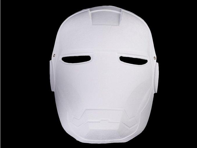 Maska na obličej k domalování - robot