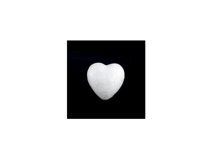 Polystyrenové srdce pr. 4,4 cm