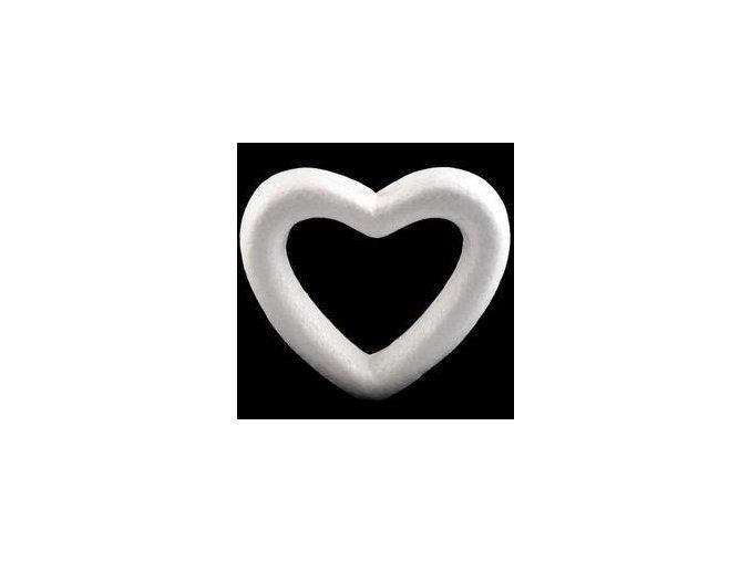 Polystyrenové srdce 11 cm
