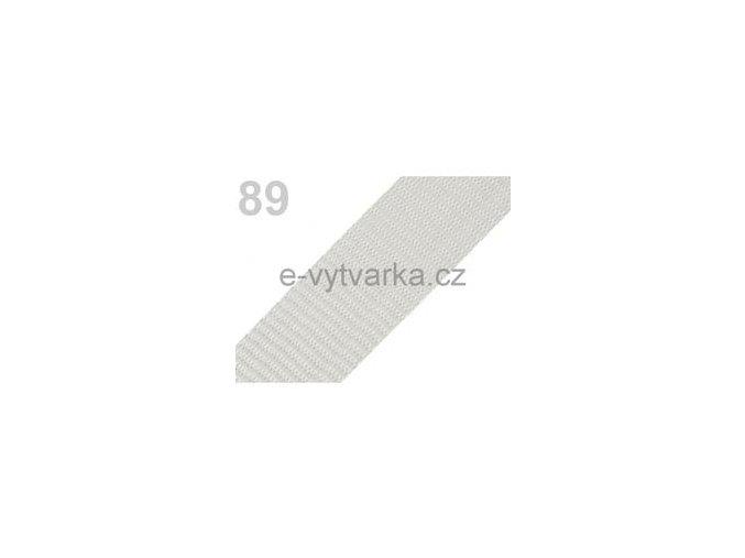 Popruh polypropylén š.50mm (5m) - šedá sv.