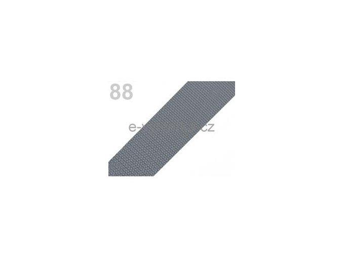 Popruh polypropylén š.50mm (5m) - šedá stř.