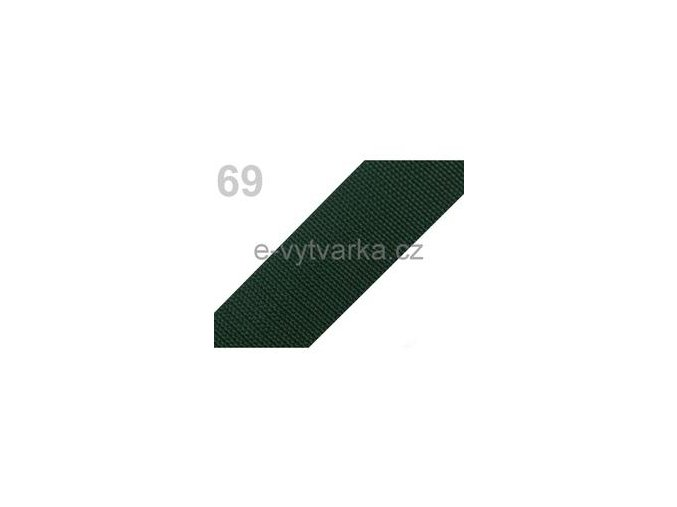 Popruh polypropylén š.50mm (5m) - zelená sytá