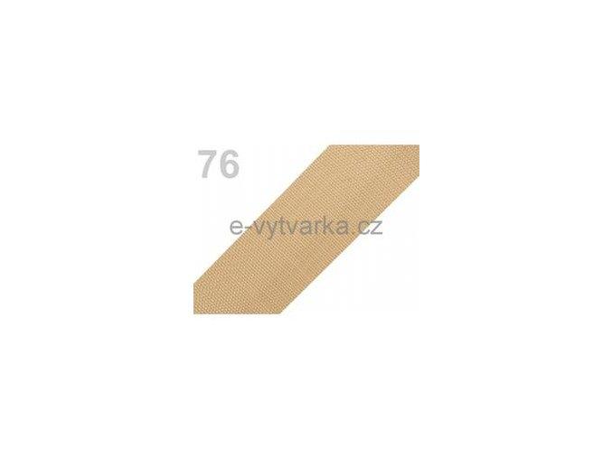 Popruh polypropylén š.50mm (5m) - písková