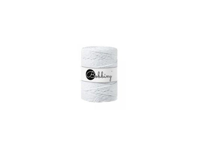 Bobbiny Macrame XXL (5mm) - WHITE