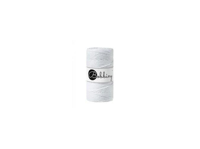 Bobbiny Macrame REGULAR (3mm) - WHITE