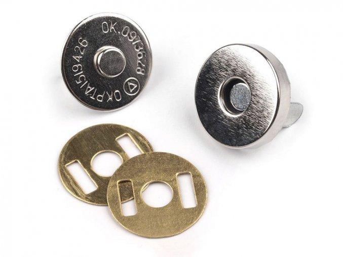 Zapínání magnet pr. 15 mm - nikl - (5 sad)