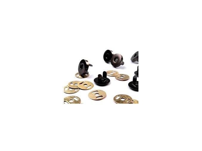 Zapínání magnet pr. 18 mm - černý nikl (5 sad)