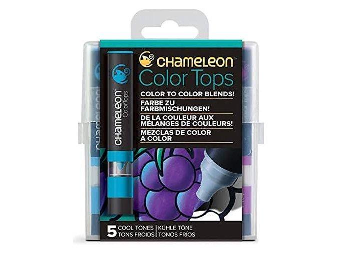 Chameleon Color Tops  - tónovací fixy - Sada Cool Tones - 5KS - barevné nástavce