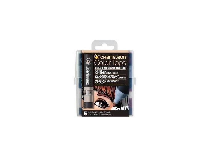 Chameleon Color Tops  - tónovací fixy - Sada Skin Tones - 5KS - barevné nástavce
