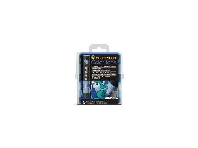 Chameleon Color Tops  - tónovací fixy - Sada Blue Tones - 5KS - barevné nástavce
