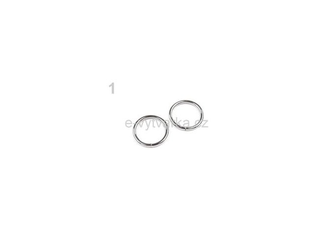 Kroužek jednoduchý pr.20mm (10ks) - stříbrná