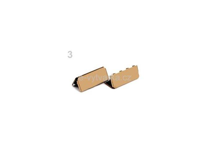 Koncovka na popruh 9x25mm (10ks) - staromosaz
