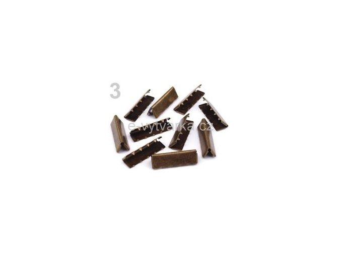 Koncovka na popruh 9x30mm (10ks) - staromosaz