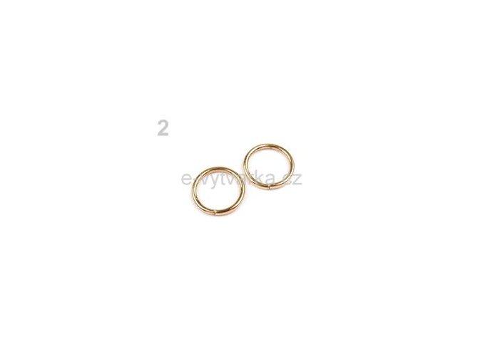 Kroužek jednoduchý pr.20mm (10ks) - zlatá