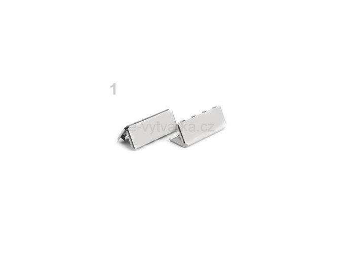 Koncovka na popruh 9x25mm (10ks) - nikl