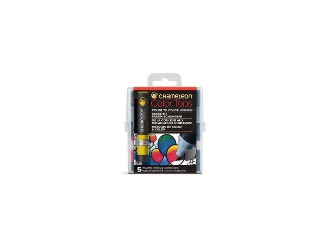 Chameleon Color Tops  - tónovací fixy - Sada Primary Tones - 5KS - barevné nástavce